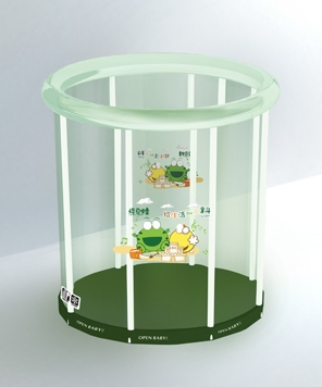 欧培绿豆蛙透明支架游泳池